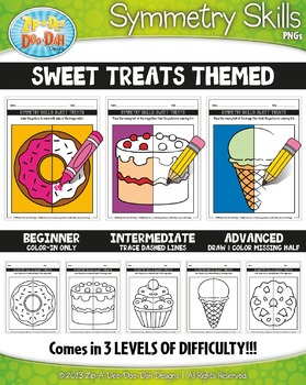 Sweet Treats Symmetry Skill Activity Pack — Includes 15 Sheets!