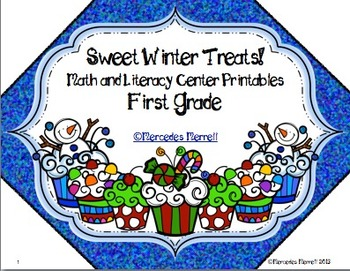 Sweet Winter Treats!  Math and Literacy Center Printables