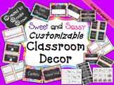 EDITABLE Classroom Decor {Sweet and Sassy}
