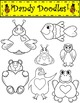 Sweetheart Critters Clip Art by Dandy Doodles
