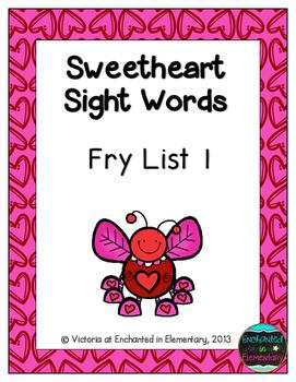 Sweetheart Sight Words! Fry List 1