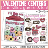 Valentine Math & ELA Centers, Games, & Fun! {12 Activities
