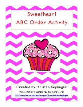 Sweetheart Valentine's ABC Order Activity