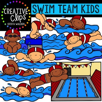 Swim Team Kids {Creative Clips Digital Clipart}