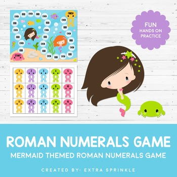 Swim to the Surface Roman Numeral Board Game