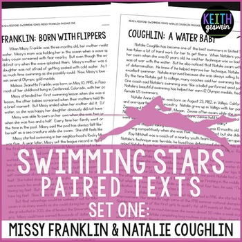 Swimming Paired Texts: Missy Franklin and Natalie Coughlin