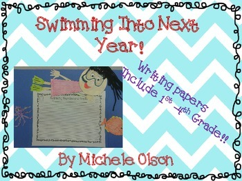 Swimming into (First-Fourth) Grade! An End Of The Year Craftivity