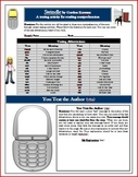 Swindle Send Text Message Reading Comprehension Activity (
