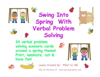 Swing Into Spring With Verbal Problem Solving
