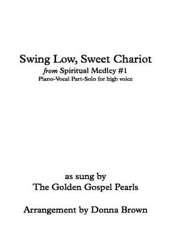 Swing Low, Sweet Chariot from Spiritual Medley # 1-SATB-hi