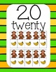 Swinging Monkey Number Posters 1-20