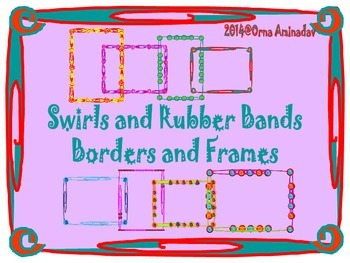 Swirls and Rubber Bands Borders and Frames