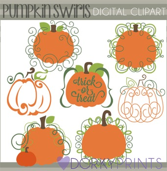 Swirly Pumpkins Clip Art