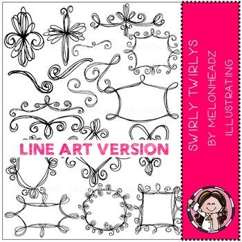 Swirly Twirlys by Melonheadz LINE ART