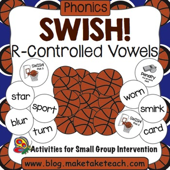 R-Controlled Vowels- Swish! A Basketball Game