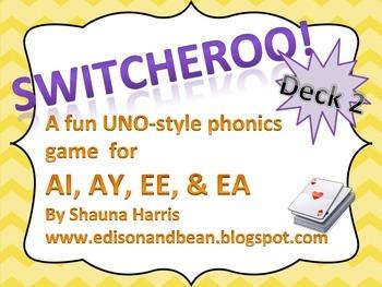 Switcheroo game for Phonics deck 2