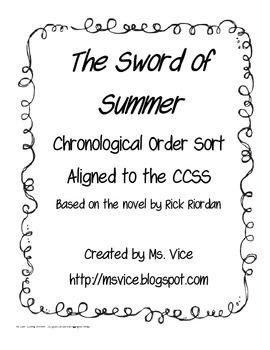 Sword of Summer Chronological Order Sort