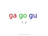 SyllaBits Spanish Ga, go, gu Syllable Slideshow Silabas Abiertas