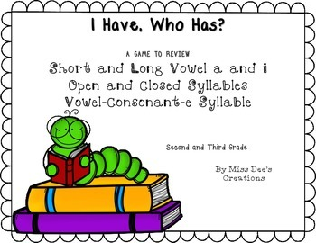 Syllabication Plus Short and Long Vowels Game