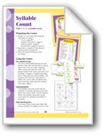 Syllable Count (1,2,3,4 Syllable Words)