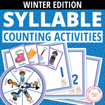 Syllable Counting Activities - Winter: Syllable Action Spi