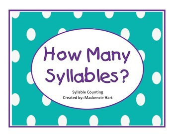 Syllable Counting Worksheets