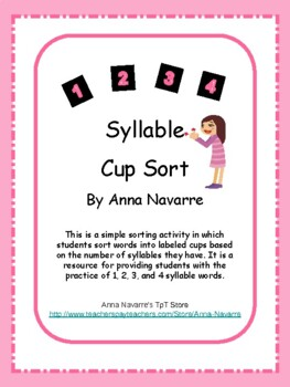 Syllable Cup Sort