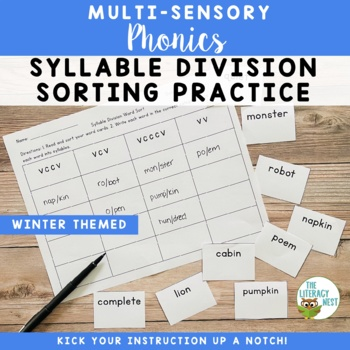 Syllable Division Sorting Practice FREEBIE