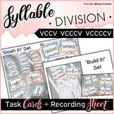 Syllable Center Task Cards - VCCV VCCCV VCCCCV patterns