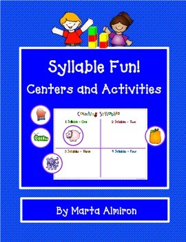 Syllable Fun! - Centers and Activities to Reinforce Syllab
