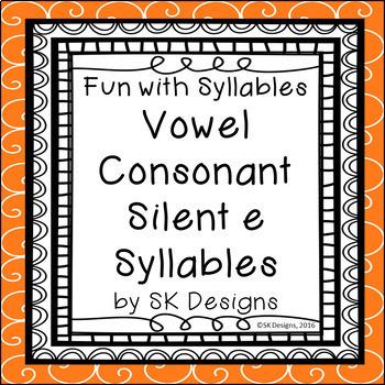 Syllables Vowel Consonant e Build Skills Fluency w Flash C