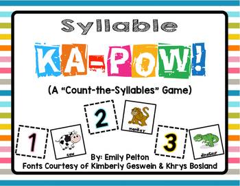 Syllable KA-POW! (pre-K & K)