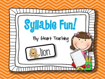 Syllable Literacy Center, Game, and Assessment {Common Cor