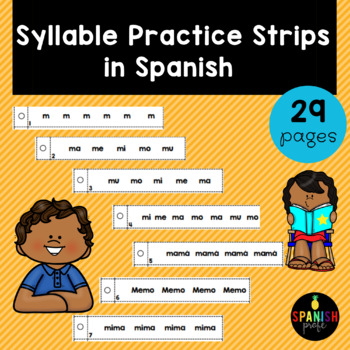 Syllable Practice Strips in Spanish ((Tiras de fluidez par