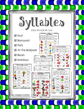 Syllable Practice or Assessment Sheets