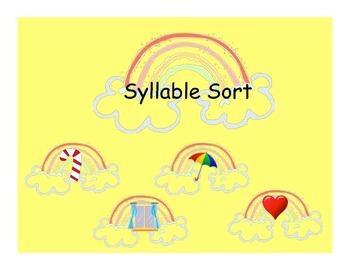 Syllable Sort + BLANKS Kindergarten, Grade 1, Literacy Centres