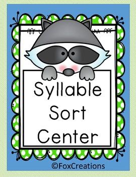 Syllable Sort Center - Literacy ~ English Language Arts ~