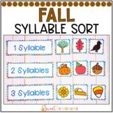 Syllable Sort {Fall Themed}