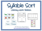 Syllable Sort Literacy Work Station