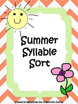 Syllable Sort {Summer Theme}