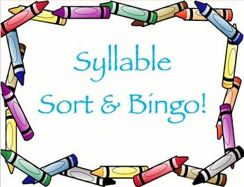Syllable Sort and Bingo