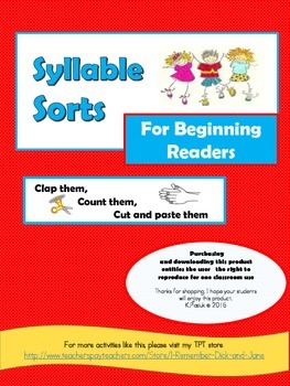 Syllable Sort for Beginning Readers