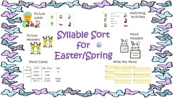 Syllable Sort for Easter/Spring