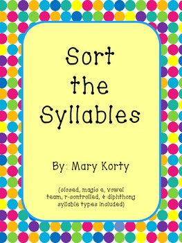 Syllable Sorting Pack
