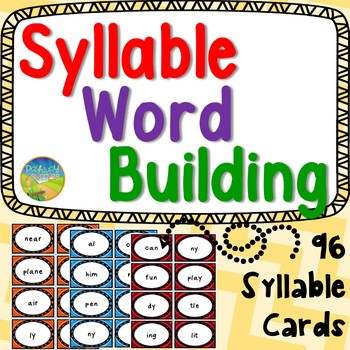 Syllable Word Building - Literacy Center Activities & 96 S