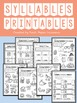 Syllables Interactive Flip-Book, PowerPoint and Printables