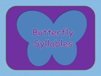 Syllables - Butterflies and Nets