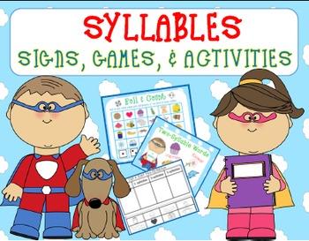 Syllables {Signs, Games, & Activities Kindergarten & 1st Grade}