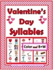 Syllables Sort BUNDLE - 3 Winter Themes - Winter Activities
