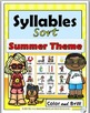 Syllables Sort Bundle - 4 Spring & Summer Activities